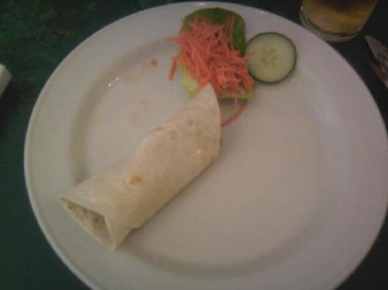 cafe galatea: Goats Cheese & Vegetable Wrap - Pathetic