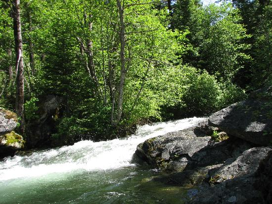 Lakeside Motel & Resort: Graves Creek Falls, an easy hike you can drive to...