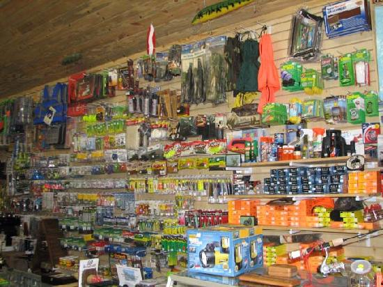 Lakeside Motel & Resort: All the fishing tackle you'd ever need...