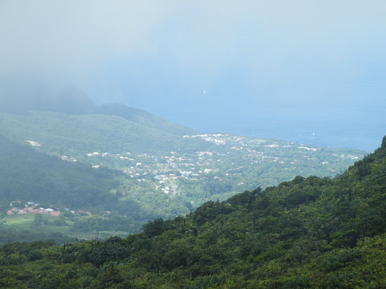Saint-Claude, Guadeloupe: View from near the summit
