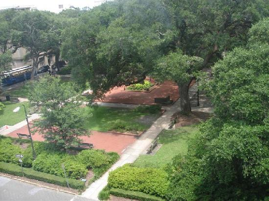 Planters Inn: VIew of Park from Room