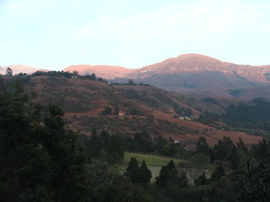 Drakensberg Sun Resort: View from our hotel room.