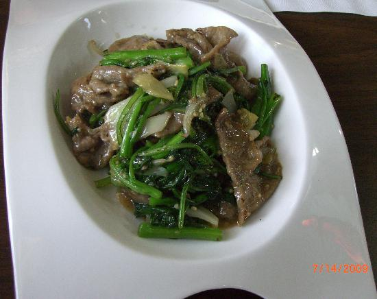 An Choi Asian Contemporary Cuisine : Pork tendergreens (special request)