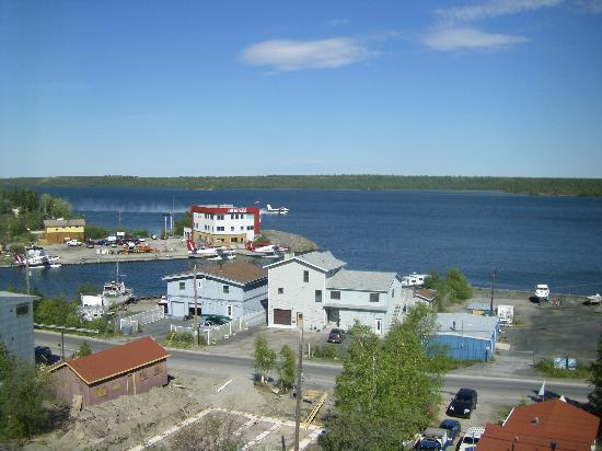 Bayside Bed & Breakfast: Bayside B & B from The Rock above old town