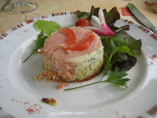 Le Pradinas : menu avec belle présentation