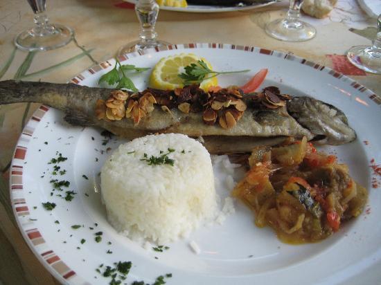 Le Pradinas : menu