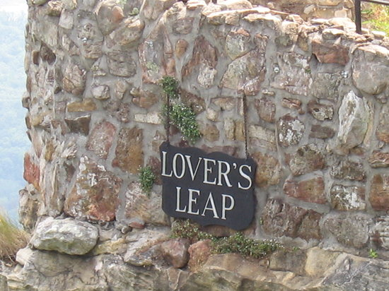 Lookout Mountain, Джорджия: Lovers Leap.