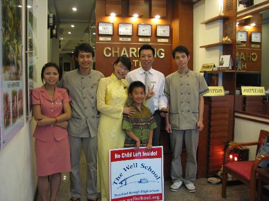 Hanoi Charming Hotel: My son made friends with all of the staff...