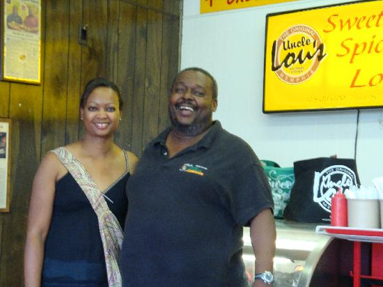 UNCLE Lou's Fried Chicken: Me and uncle Lou!