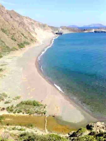Triopetra Yoga Retreat : The beach on the left