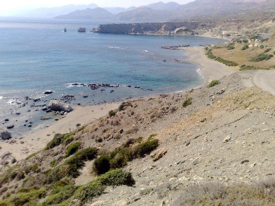 Triopetra Yoga Retreat : The beach on the right