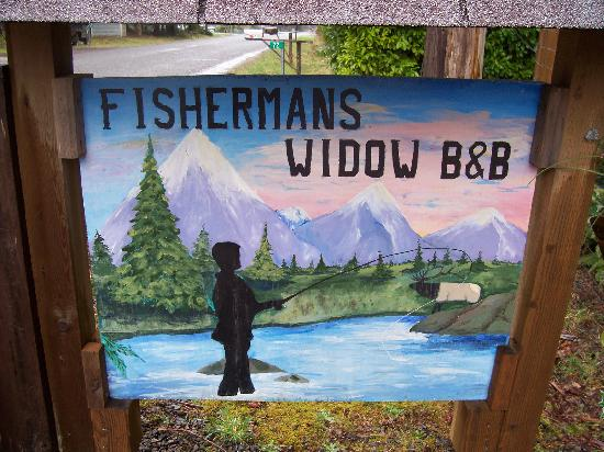 Fishermans Widow Bed & Breakfast: Fisherman's B&B Sign
