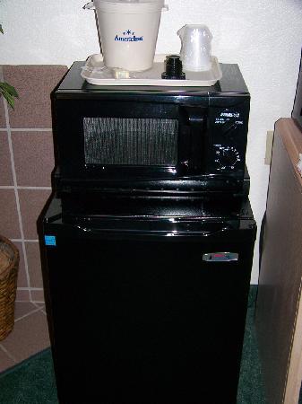 AmericInn Lodge & Suites Oshkosh: Fridge/Freezer and Microwave