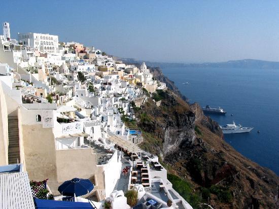 ซานโตรีนี, กรีซ: Fira - La capitale