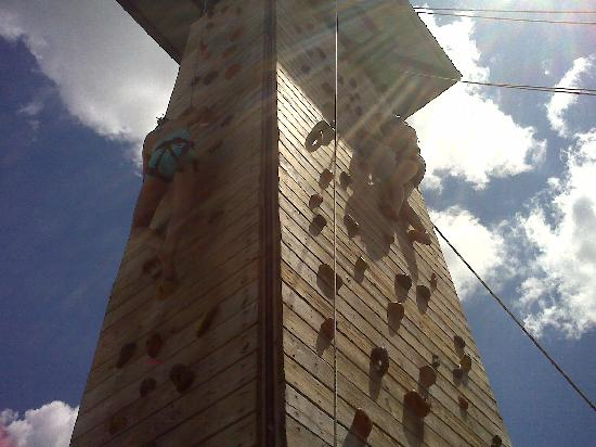 Rock Climbing Wall Was Fun For The Kids Picture Of