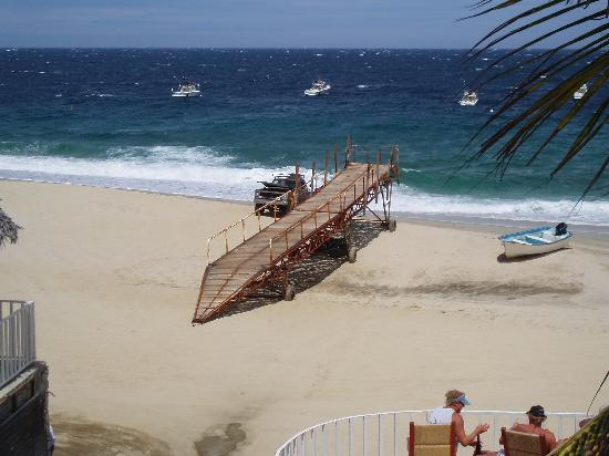 Martin Verdugo's Beach Resort: docks out of water as storm passes