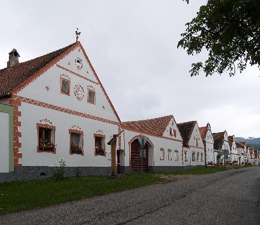 Ceske Budejovice, Czech Republic: Baroque houses in Holasovice