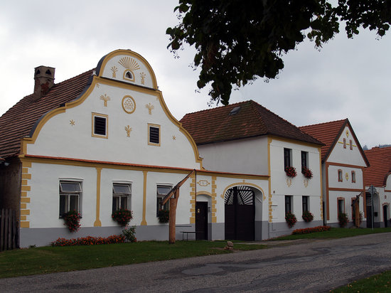 Ceske Budejovice, Repubblica Ceca: Baroque houses in Holasovice