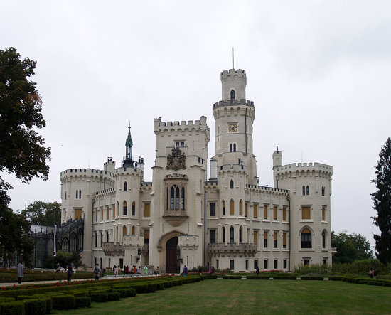 Bohemia, Republika Czeska: The castle at Hluboka nad Vltavou