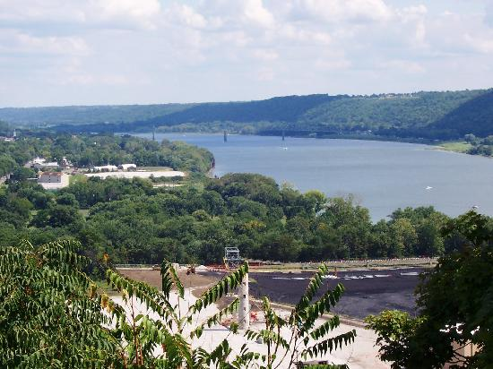 View from observatrion deck picture of clifty falls - Clifty falls state park swimming pool ...