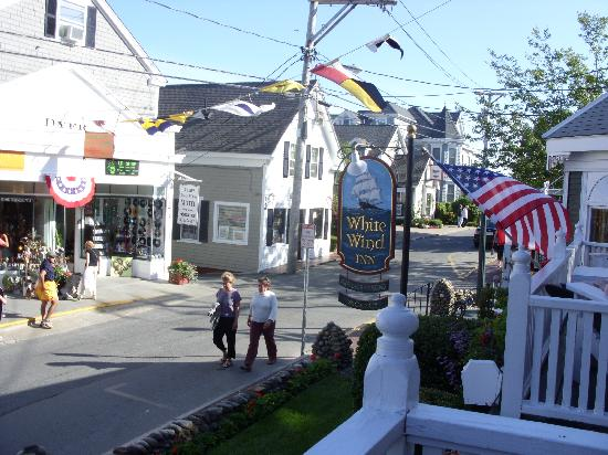 White Wind Inn: View from Front Porch of Commercial St