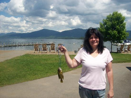 Blue Lagoon Resort: caught my first fish!