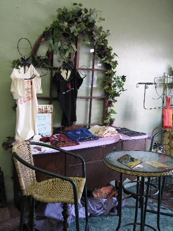 Devolli's Italian Restaurant : T-shirts and local art for sale.