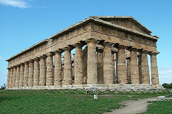 Templi Greci di Paestum: Temple of Poseidon, c500 BCE