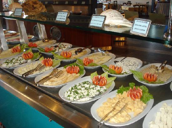 Fromages au petit-déjeuner, hotel Grand Side