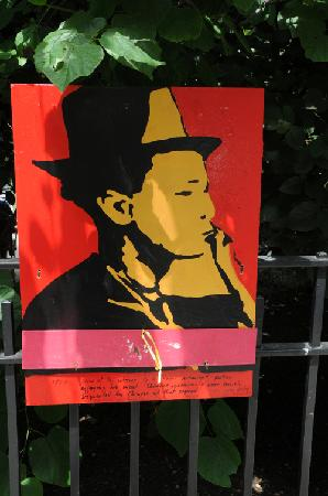 Gotham Walking Tours of New York City: All around Columbus park were posters of immigrants with short stories describing each image.