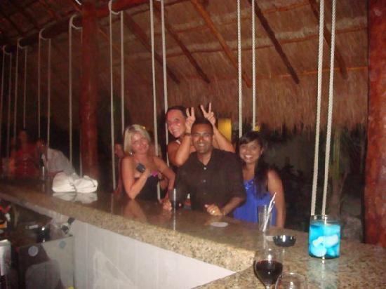 Swings by the bar
