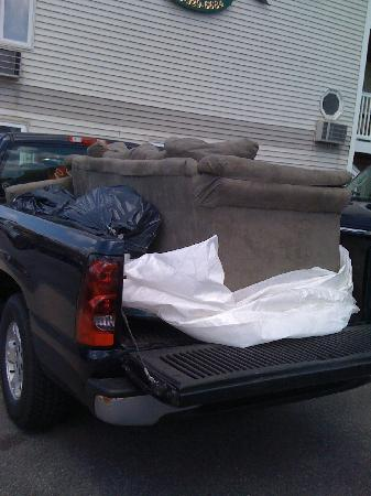 Ocean Air Properties: This is the old couch that was replaced on the spot with a brand new one within a half-hour!