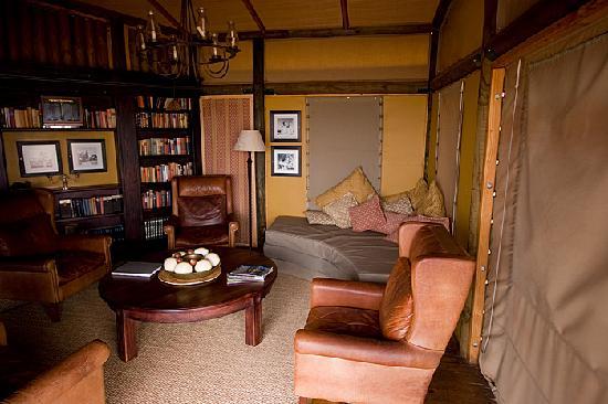 Wolwedans Dunes Lodge: Le salon commun