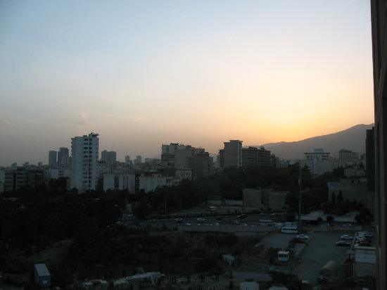 Tehran Homa Hotel: Mountains to the West