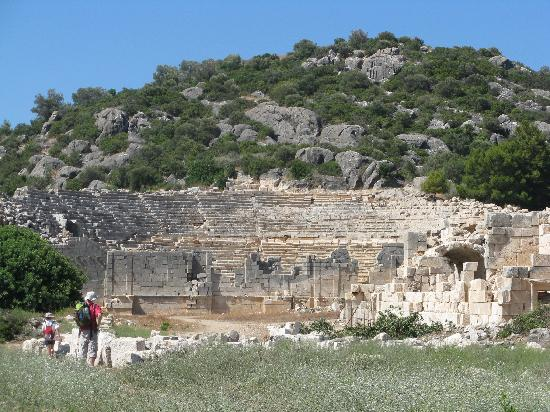 St. Nicholas Pension: Greek theatre in Patara