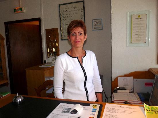Hotel Restaurant Le Boreon : Mme Thomas