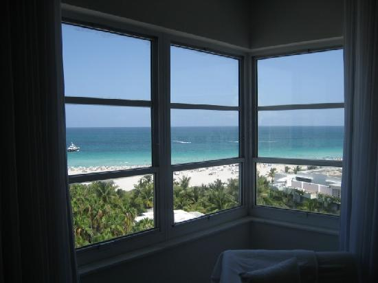 Delano South Beach Hotel: Looking out room window (Rm 1004)