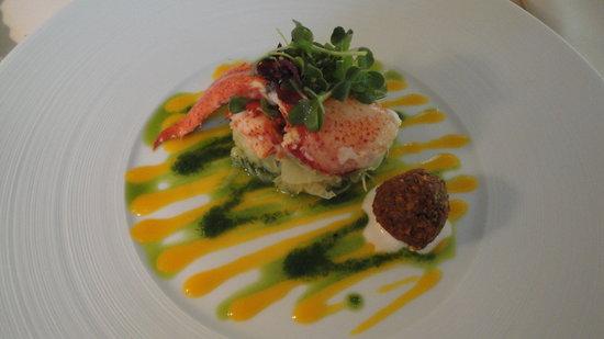 L'Auberge de l'Ill : lobster saldad with orange coulis