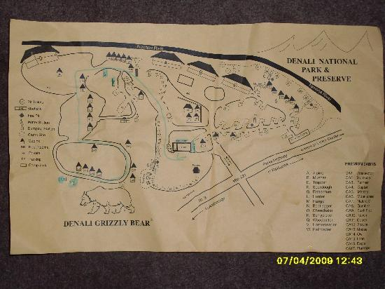 Map of complex Picture of Denali Grizzly Bear Resort McKinley