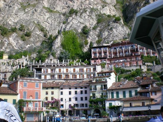 Hotel Castell Limone seen from lake Garda
