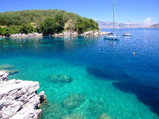 Damia Hotel: Agni Beach, north Corfu