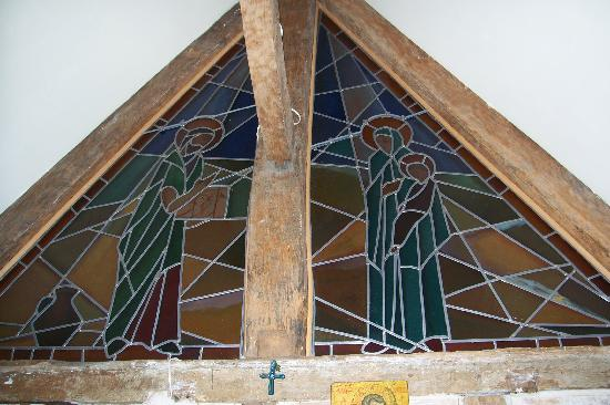 Maison JLN : Stainglass of oratory/bedroom