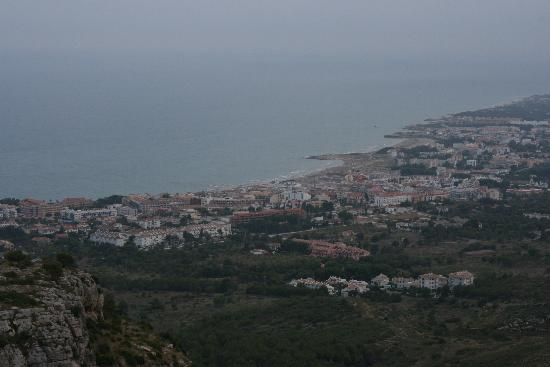 A view of Alcossebre from the hills