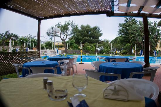 Hotel San Michele : restaurant by the pool