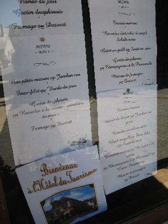 Chauffayer, Francja: restaurant menu