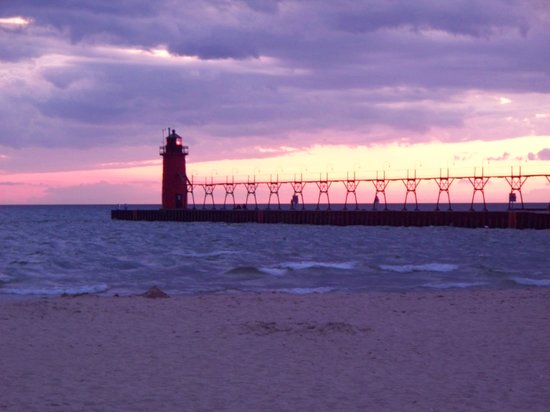 ‪ميتشجان: Lighthouse in South Haven‬