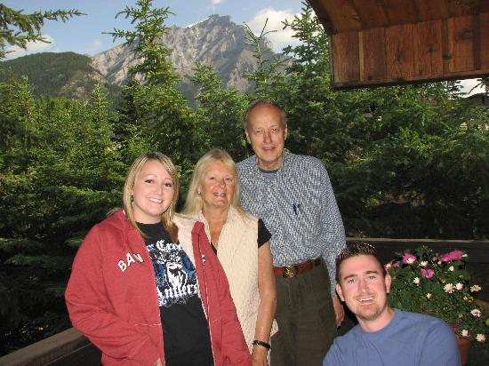 Treetops Banff Bed and Breakfast: Our hosts and view