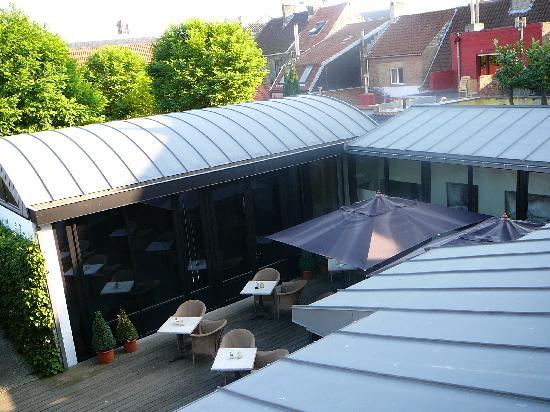Hotel Montanus: vue sur la terrasse
