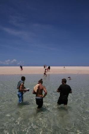 Tanga, Tanzania: At the sand island.