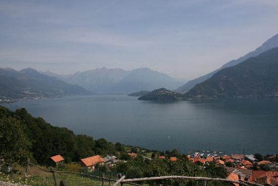 Pianello Del Lario viewed from above the town